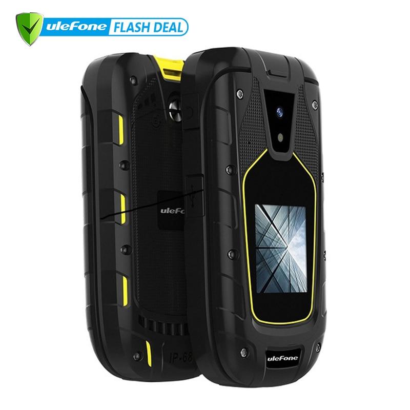 Ulefone Rüstung Flip Wasserdichte IP68 1200mAh 1.3MP Dual Sim 2,4 zoll + 1,44 zoll Bildschirm Präsentiert Neue Kopfhörer