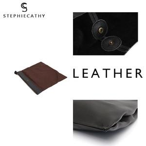 Image 3 - SC Brand Designer Big Genuine Leather Tote Bag Women Vintage Casual Leather Shopping Bag Leisure Shoulder Bag Large Handbag hobo