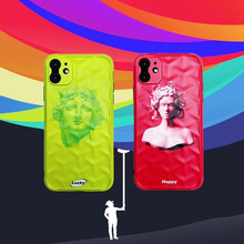 Luxury Art Venus Medusa statue Phone Case For iphone 11 Pro Max 8 7 6 6s plus Back Cover For iphone X XR XS Max Soft Cases luxury matte leopard print phone case cover for iphone xs max xr x 8 7 6 6s plus 11 pro soft back cases colorful fashion shell