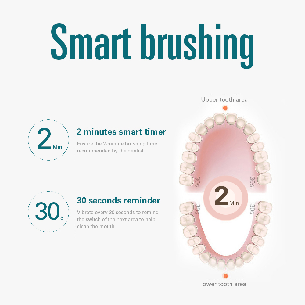 Tackore Electric toothbrush Sonic Electric Toothbrush Adult Timer Tooth Brushes 5 Modes 10 Frequencies IPX7