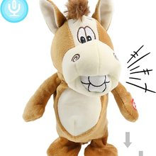 Toy Donkey Talking-Singing Electric Plush-Doll Musical-Toy Peek Stuffed Hide 30cm And