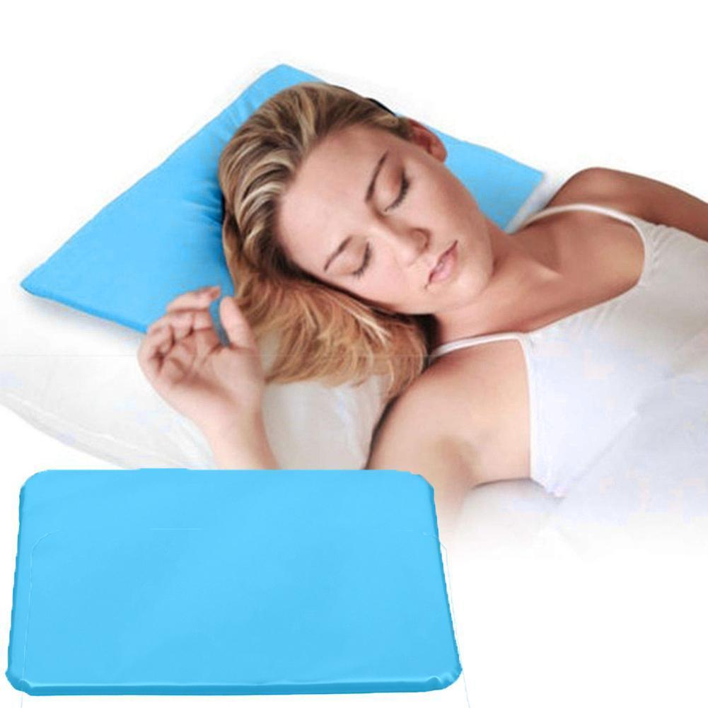 Cool Bed Mat Pad Cooling Gel Pillow Chilled Natural Pillow For Travel Sleep Comfortable Sleeping Comfort Aid Office Ice Pil D2Q1