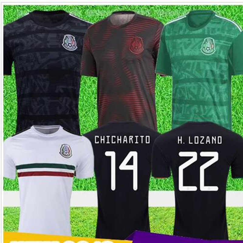 best loved bd15a 6e7bf New 2019 mexico soccer jerseys LOZANO CHICHARITO 19 DOS ...