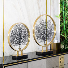 Metal Sea Tree Ornaments Nordic Tree Desktop Soft Metal Decoration Creative Home Accessories Entrance Model Room Decoration