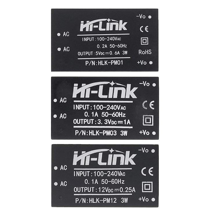 HLK-PM01 HLK-PM03 HLK-PM12 AC-DC 220V to 5V/3.3V/12V mini power supply module,intelligent household switch power module UL/CE