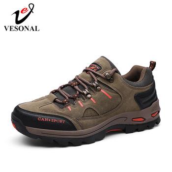 VESONAL 2019 Outdoor nowa jesienna zima trampki męskie buty Casual turystyka wygodne siatki oddychające obuwie męskie antypoślizgowe
