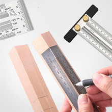 Scale Ruler Gauge Carpenter-Measuring-Tool Mark-Line High-Precision Stainless-Woodworking