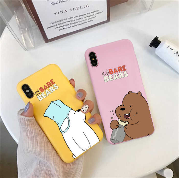 We Bare Bears Colored soft silicone Phone Cases For huawei p30 pro p30 lite p20 pro p10 mate 20 p10 lite honor 9 lite