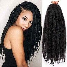 Marley büküm örgü saç 18 In100g Marley saç tığ örgüler sentetik Afro Kinky kıvırcık Twists örgü saç saç ekleme