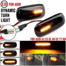 2X LED Dynamic Side Marker Turn Signal Light Indicator for Audi A3 S3 8L 2000-2003 A8 D2 1999-2002 TT 8N 2000-2006