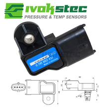 3 Bar Original Boost MAP Sensor For Opel Vauxhall Astra G H Signum Vectra C Zafira 1.3 1.9 Cdti 73503657 0281002845 0281002437