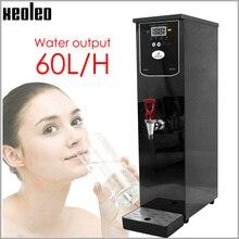 Xeoleo 20L موزع المياه الساخنة التجارية آلة الماء الساخن 60L/H وعاء من الستانليس ستيل الأسود غلاية مياه لمتجر شاي فقاعات 3000 واط