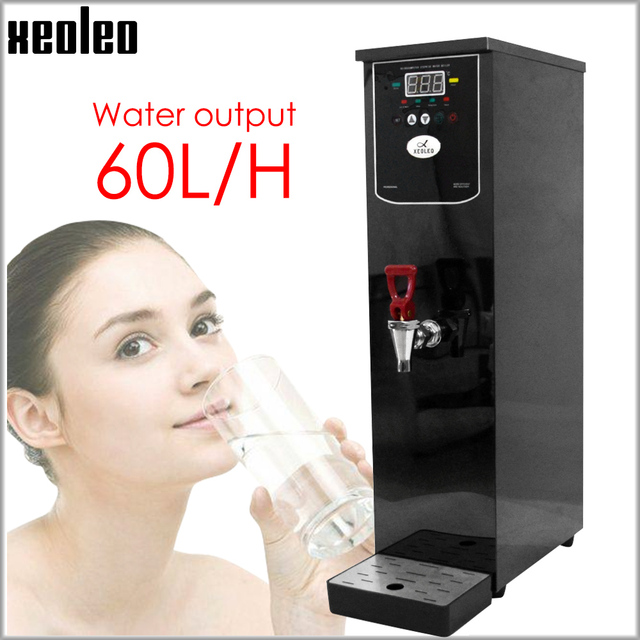 Xeoleo 20L Hot Water dispenser Commercial Hot Water machine 60L/H Black Stainless steel Water boiler for bubble tea shop 3000W