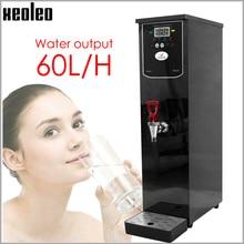 Xeoleo 20l dispensador de água quente comercial máquina de água quente 60l/h preto caldeira de água de aço inoxidável para a loja chá da bolha 3000w