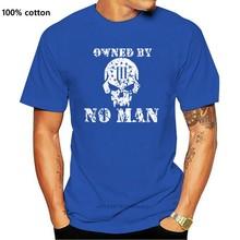 2019 nova moda algodão camiseta de propriedade de nenhum homem crânio 3% independência militar camiseta casual camiseta