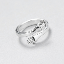 Couple-Rings Engagement-Ring Opening Silver-Plated Vintage Simple Jewelry Gifts Wedding