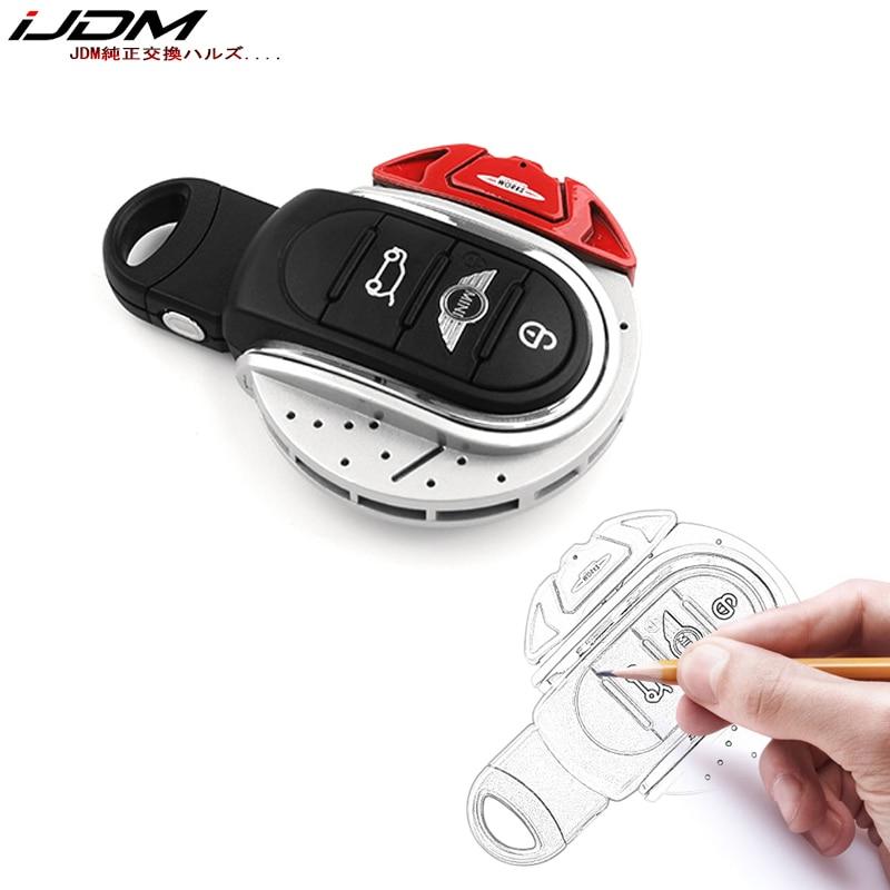 iJDMTOY Red JCW Brake Disk Shape Key Fob Shell Cover For MINI Cooper 3rd Gen F55 F56 F57 F54 Gen2 F60 Countryman Smart Key
