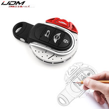 IJDMTOY JCW เบรคดิสก์ Key FOB SHELL สำหรับ MINI COOPER 3rd Gen F55 F56 F57 F54, gen2 F60 Countryman Smart KEY(China)