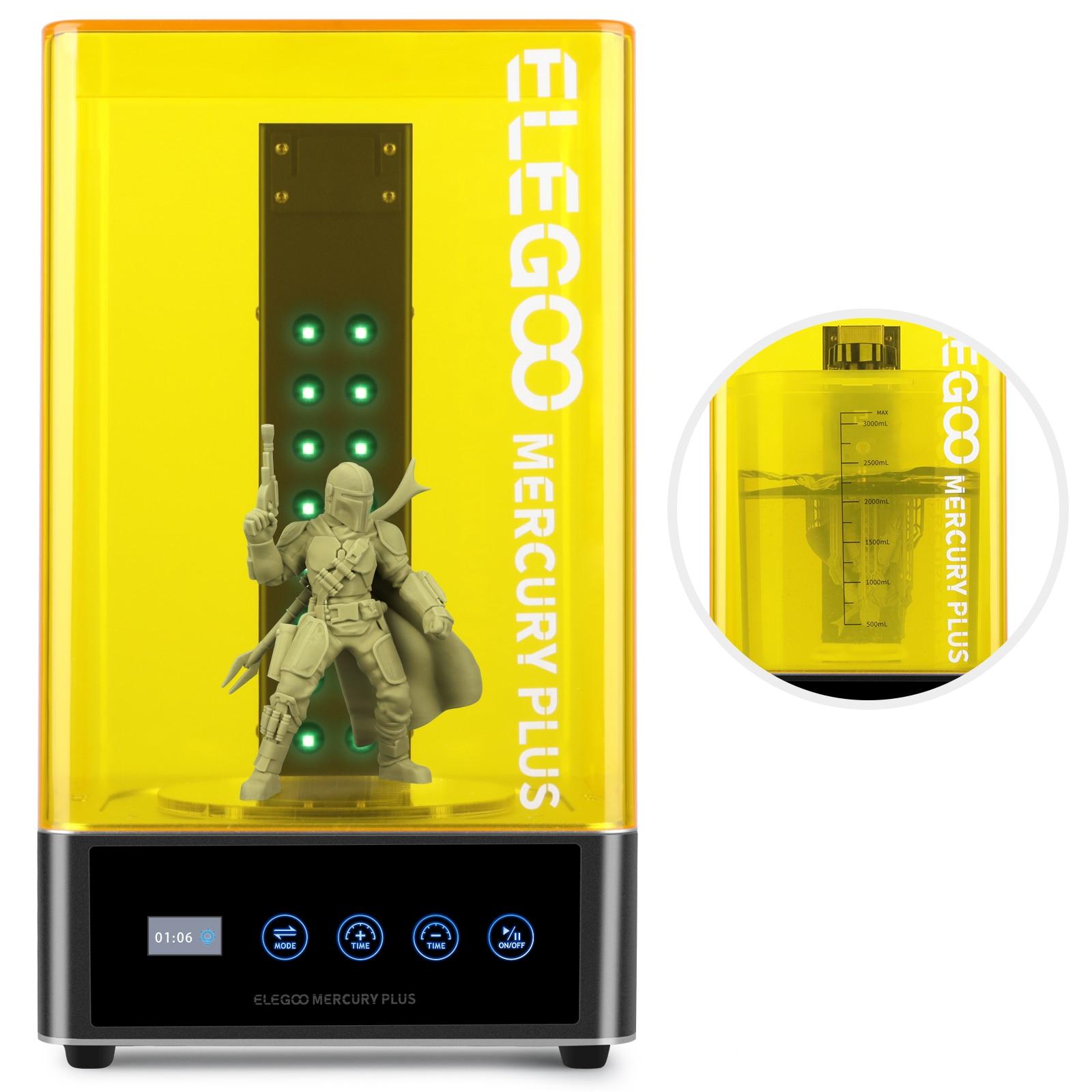 ELEGOO 3D-принтеры мыть и аппарат для лечения гель лак модели 2-в-1 стиральная и лечение отверждения модели с герметичной Стир