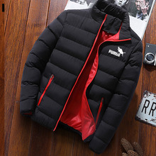 American plus size winter coat men's new thick parka coat thick zipper coat autumn coat warm men's coat windproof and waterproof