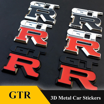 цена на 1pcs 3D Metal Emblem Badge Sticker Car Styling  For GTR Labeling NISMO Racing Decal GT-R R32 R33 R34 R35 370Z Car Accessories