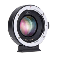 Commlite CM EF EOSM Booster for Canon EF to EOS M Camera 0.71x Speed AF Focal Reducer Lens Adapter for Canon EOS M6 M10 M50 M100