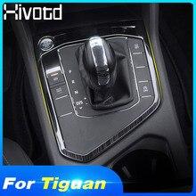 Hivotd для VW Tiguan тигуан mk2 автомобиля-Стайлинг шестерни панель переключения передач крышка из нержавеющей стали отделка автомобиля наклейки аксессуары для интерьера