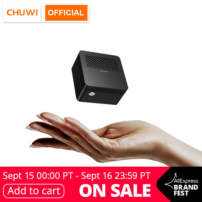 CHUWI LarkBox más pequeño del mundo 4K Mini PC Intel Celeron J4115 Quad Core 6GB RAM 128GB ROM de escritorio de Windows 10 computadora HDMI USB-C