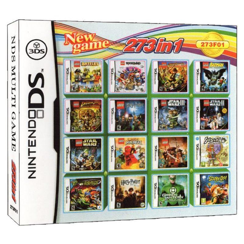 273 в 1 Compilations видео игровая карта-картридж для DS 2DS 3DS NDS NDSL NDSI игровая консоль Super Combo Multi Cart