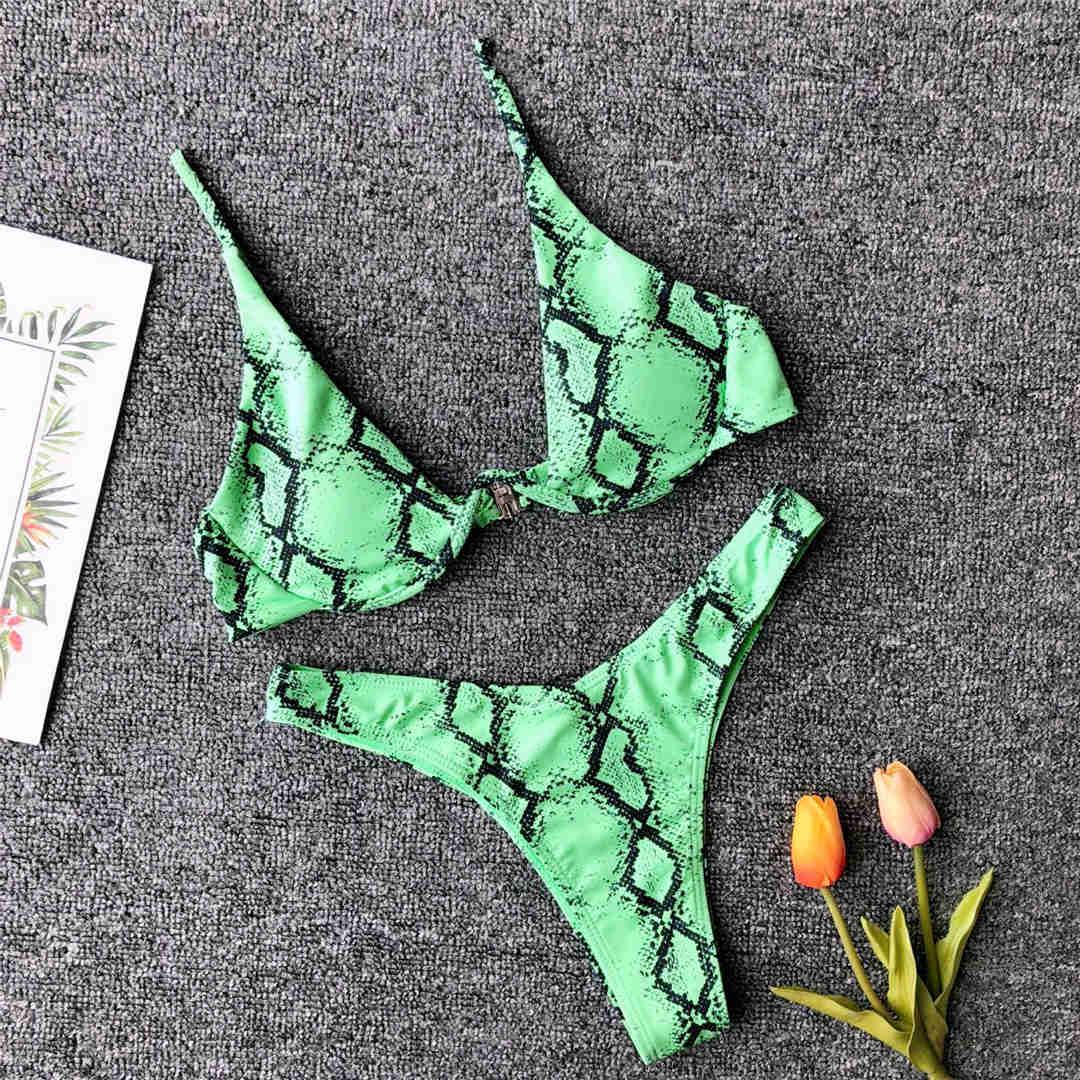 Green Snake Printed