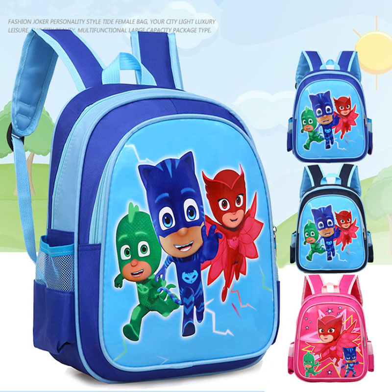 Pj Masks 2019 New Cartoon Unisex School Backpack Pj Mask Juguete Catboy Owlette Gekko Action Figures Bag Student Backpack S67