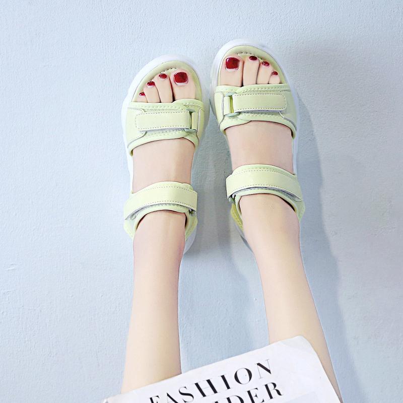 2020 Casual Platform Wedge Sandals Women White Green Thick Sole Open Toe Sport Sandals Summer Outdoor Beach Shoes Women