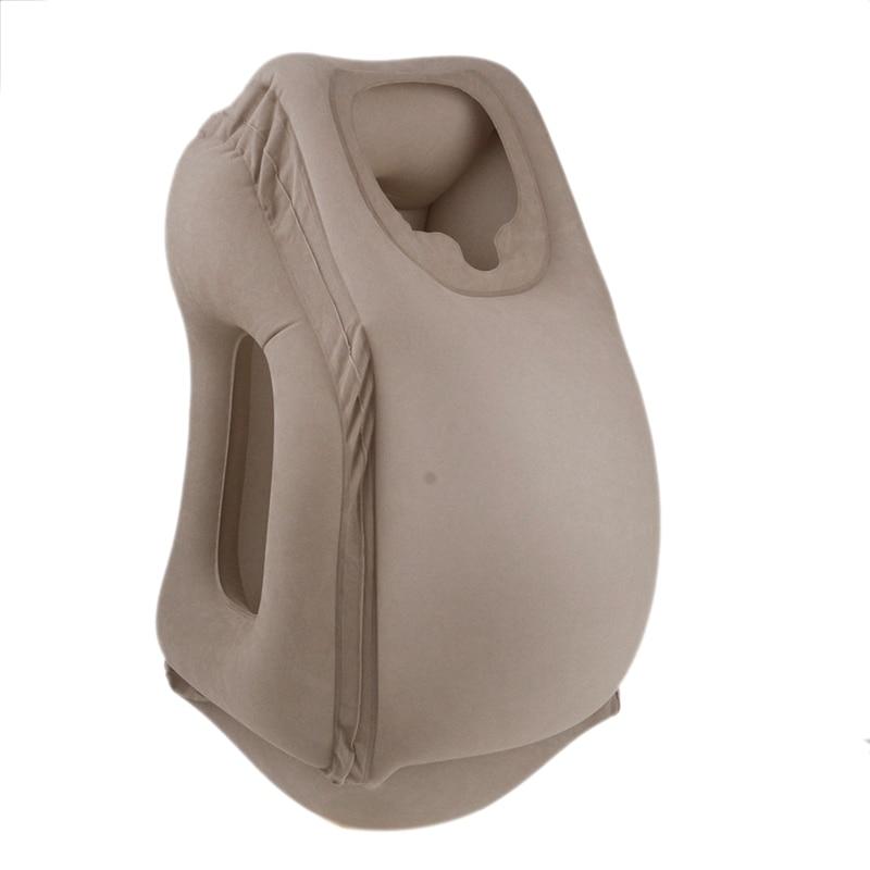 Inflatable Air Pillow Travel Pillow Air Bolster Frontal Comfortable Sleep Plane Car Soft Cushion Trip Foldable Blow Neck Pillo