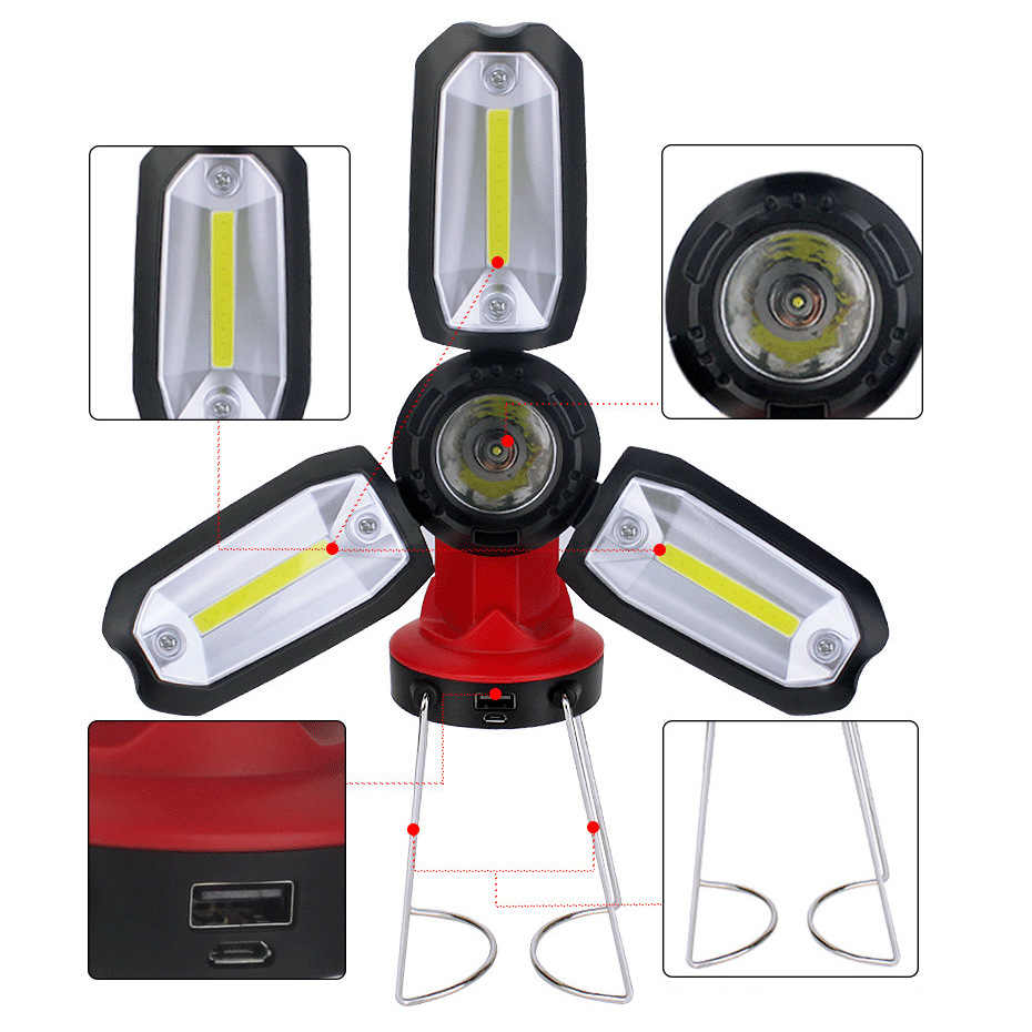 USB Rechargeable Portable LED Camping Lantern Tent Light Ultra Bright Lamp