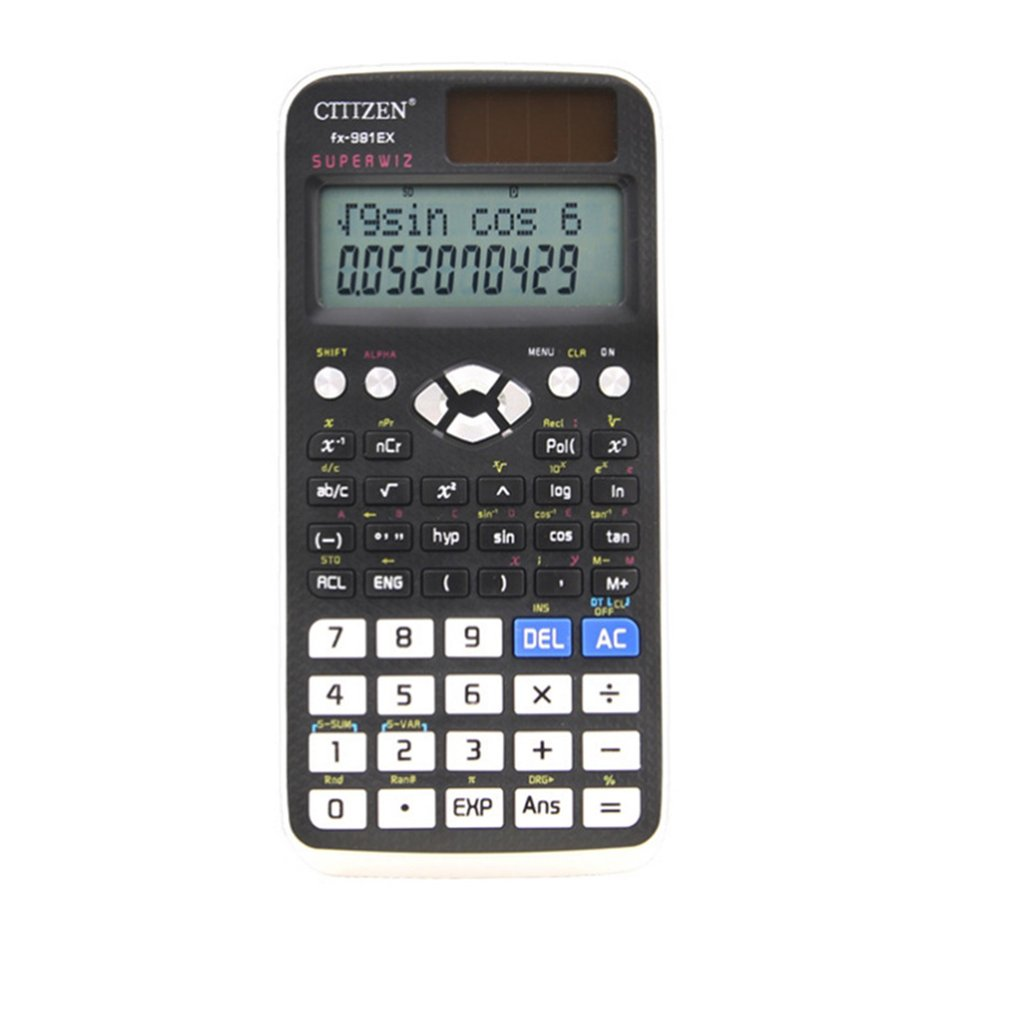 FX-991EX Black Scientific Calculator 552 Functions High Resolution LCD Display Equation And System Solver Vector Calculations