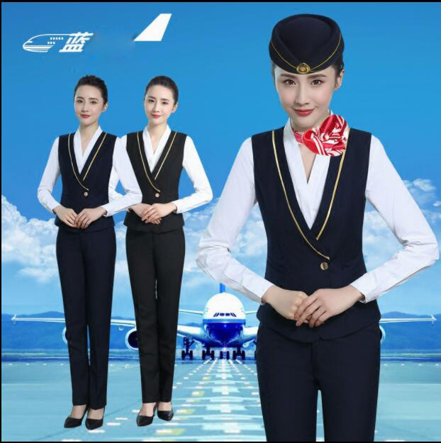 High-speed Railway Stewardess Occupation Uniform Student Interview Clothing Lady Professional Women Suits Air Hostess Uniform