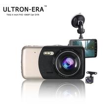 Ultron-Era 4 Inch Vehicle Hidden Dual Lens FHD 1080P Dash Cam Video Recorder With Rear View Camera Night Vision Car Mirror DVR цена 2017