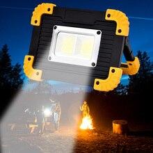 20 Вт COB Автомобильный ремонтный портативный Точечный светильник, прожектор, светильник для кемпинга, походов, аварийный светодиодный светильник, перезаряжаемый, для рыбалки, безопасности