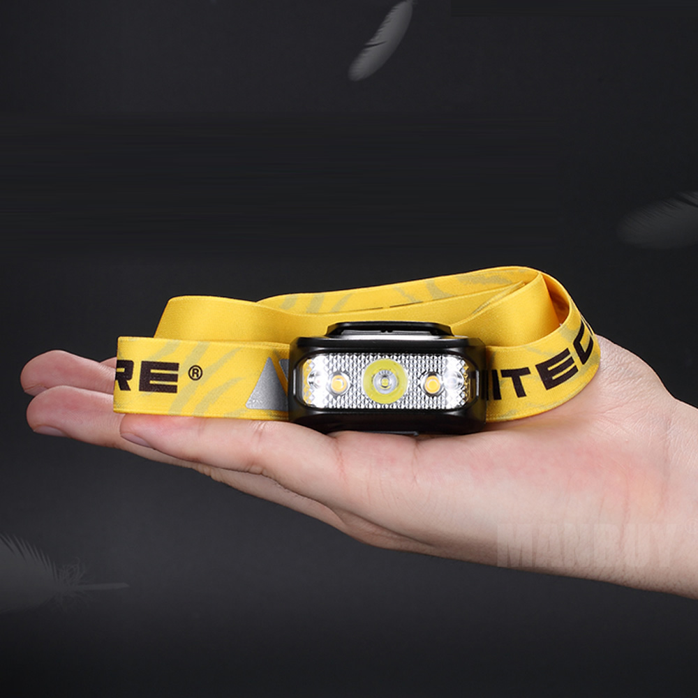 Hot NITECORE NU17 USB Rechargeable Headlamp White + CRI + RED 3 Color Outputs Light Waterproof Weight Headlight Outdoor Running
