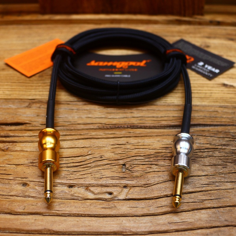 Купить с кэшбэком Samgool+ AG series electric guitar cable fever level noise reduction frequency recording sound 3/6/10 meters