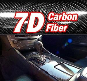 60x150cm 7D textura tejido de alto brillo de fibra de carbono envoltura de estilo de coche de la motocicleta accesorios de estilo Interior de fibra de carbono