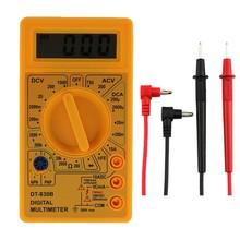 Universal Meter Digital Multimeter LCD Display DC AC Voltage Current 10A Input Triode Test DT-830B Low Battery Max 1999