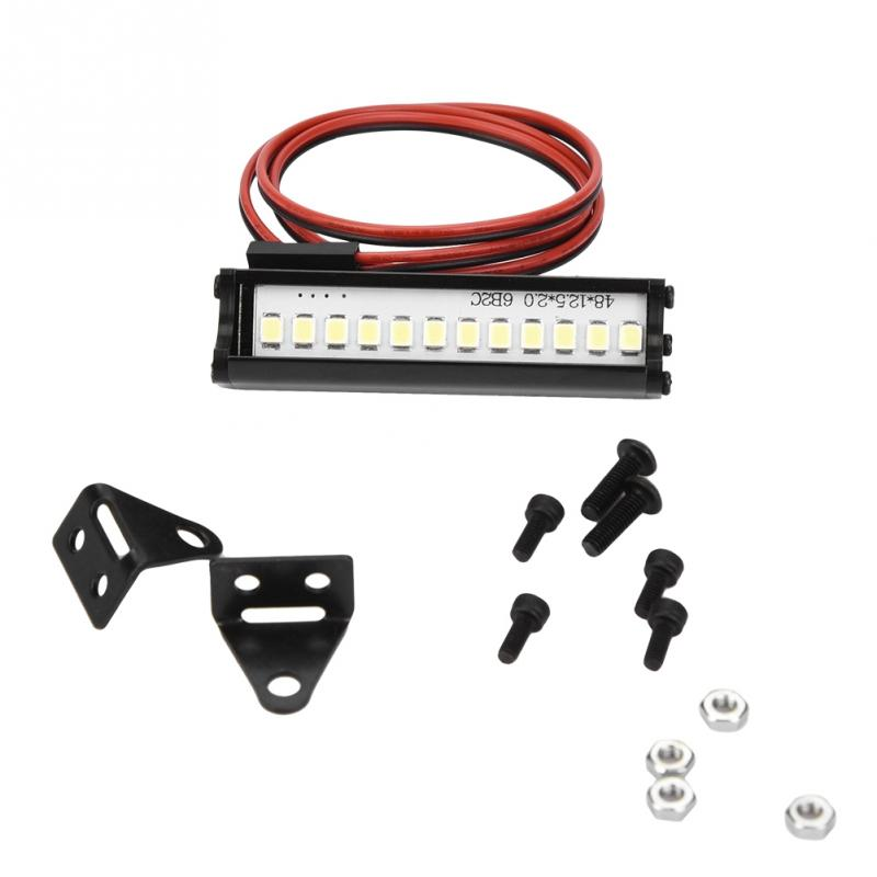 2019 55mm RC LED Light Bar LEDs Lamp 1:10 RC Car Part For TRX4 90046 90048 SCX10 Bright LED Lights Cool Accessory For Model Car