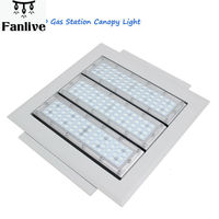 5pcs UL 150w Gas Station Lamp Led Canopy Light Industrial Factory High Bay Driver 90 277V 120lm W Commercial Celling light