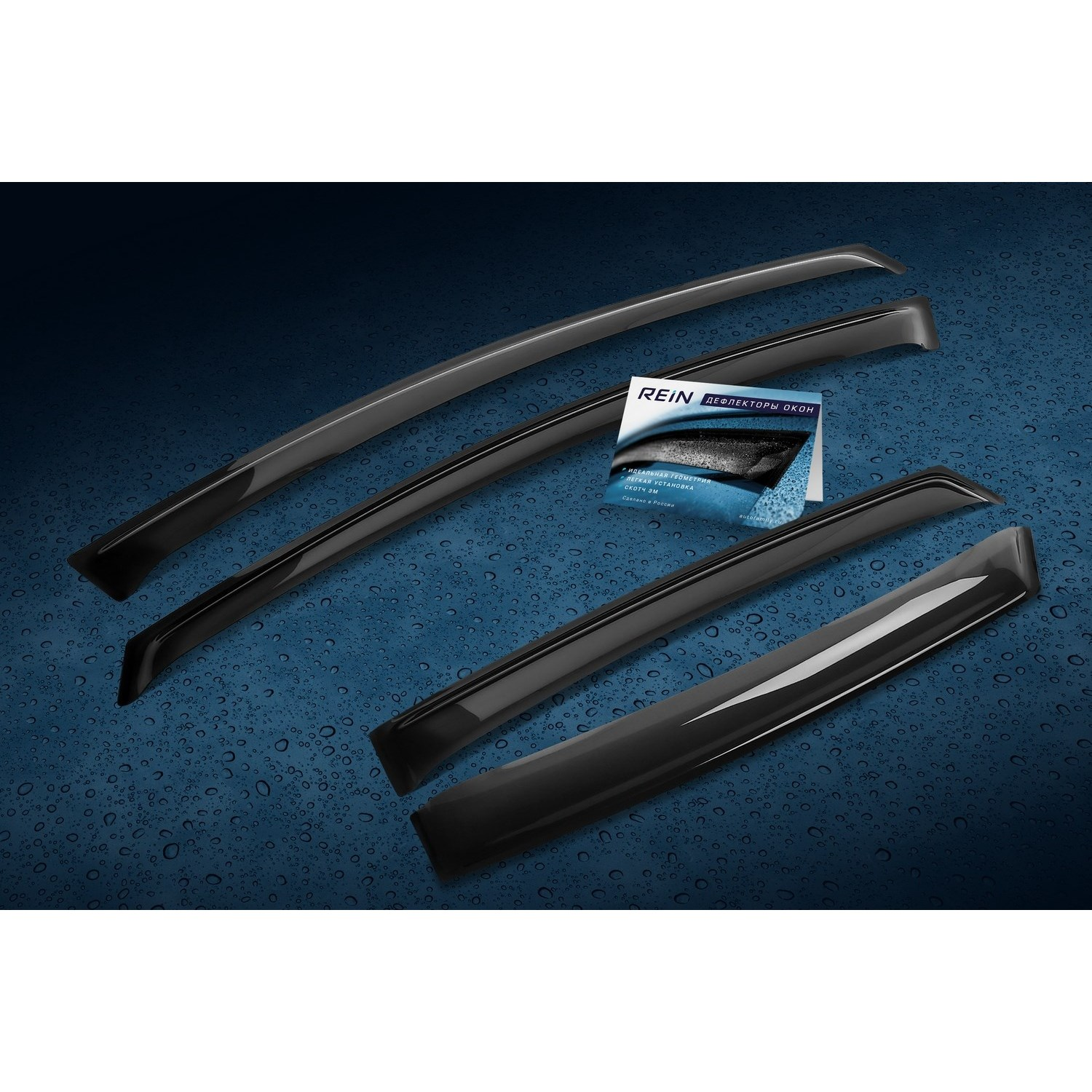 Window Deflectors For MITSUBISHI PAJERO SPORT III-2015, Patch, Scotch Tape 3 M 4 PCs REINWV958