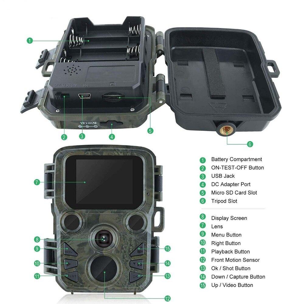 H1011d09d0e0943889faf91cbdd831f14d - 16MP 1080P Mini Trail Photo-traps IP66 Hunting Camera Game Trail Camera Outdoor Wildlife Scout Guard Wildcamera with PIR Sensor
