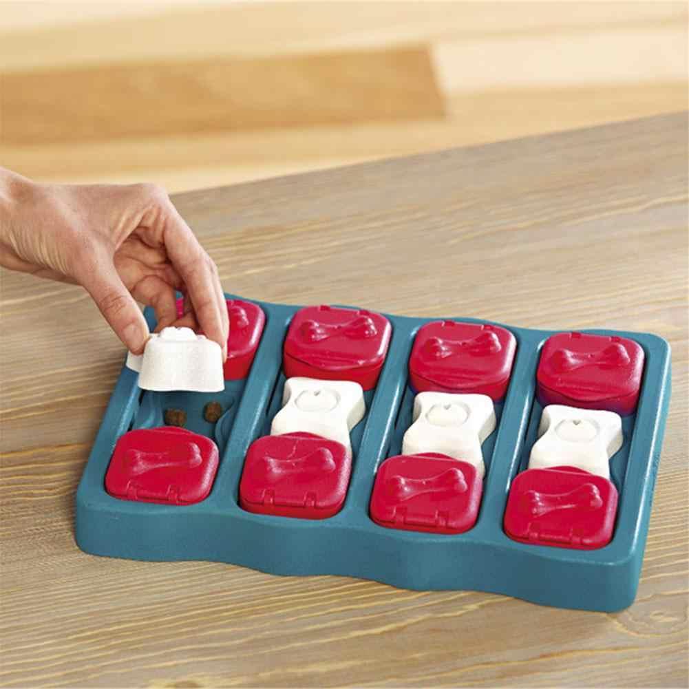 Cão tijolo tap & aleta tratar quebra-cabeça caixa de brinquedo do cão de estimação alta iq desenvolvimento treinamento interativo brinquedo educativo alimentador de alimentos brinquedos