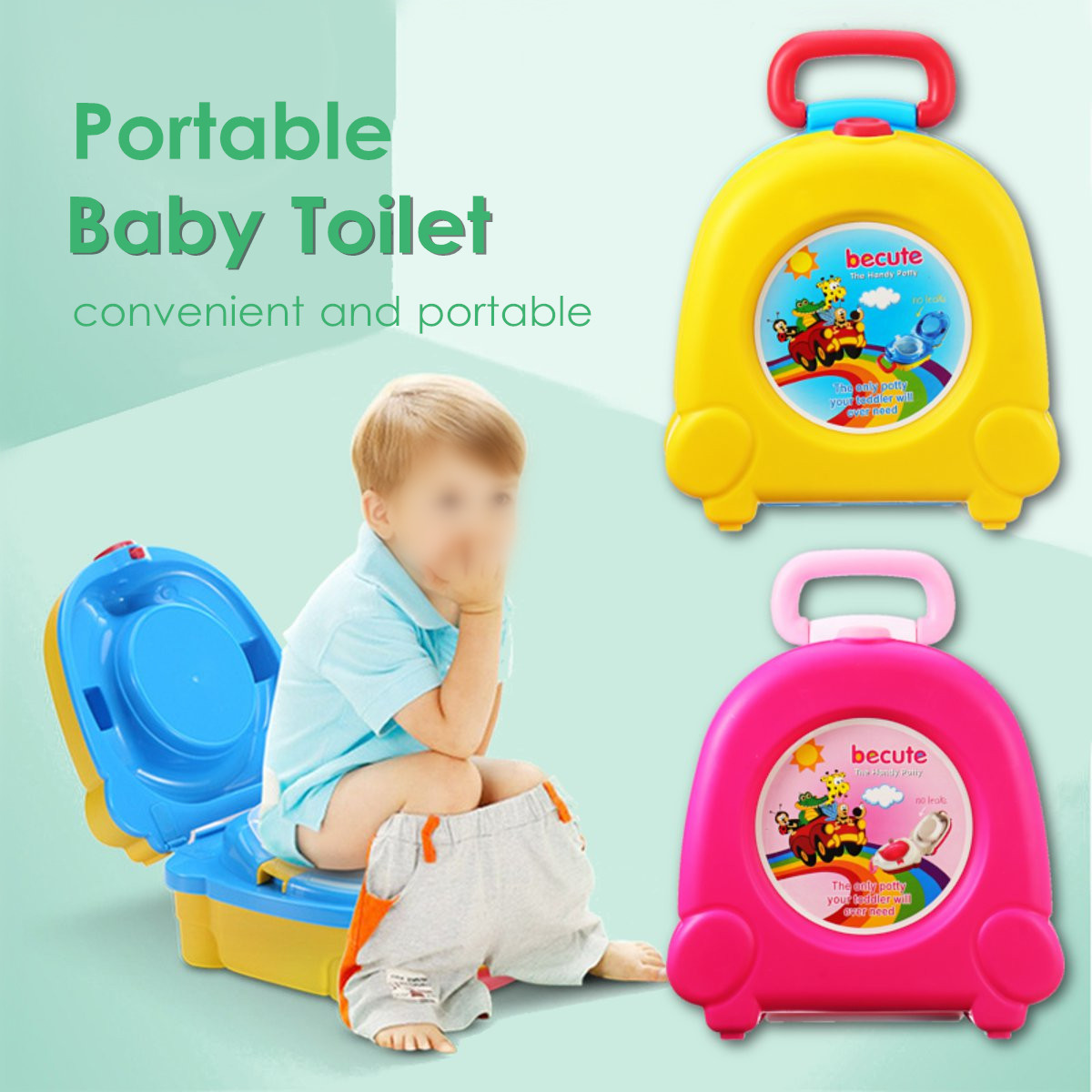 Kids Travel Potty Pink Portable Baby Travel Potty Training Toilet Seat Urinal Car Portable Urinal Training Toilet for Kids Boys Girls Camping Car Travel