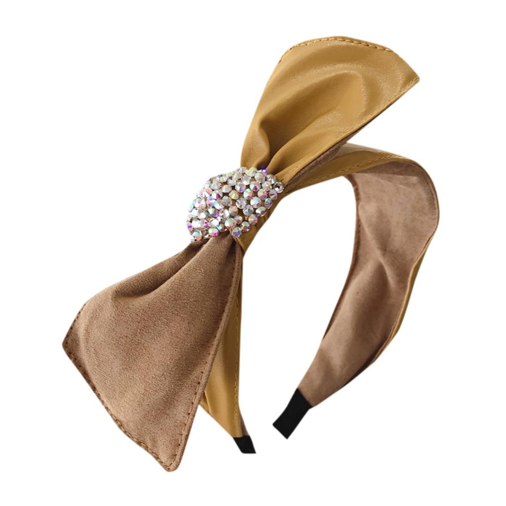 Newest Bow Knot Hairband Women Hair Head Hoop Simple Sweet Girls Suede Headband