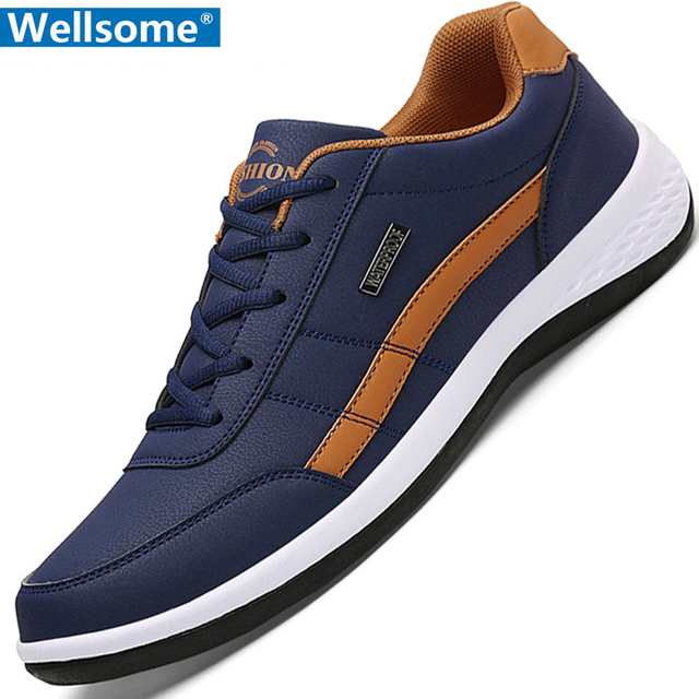 Luxury Brand Leather Men Shoes Men Casual Shoes Leather Sneakers New Leisure Comfort Outdoor Breathable Casual Flats Shoes Men
